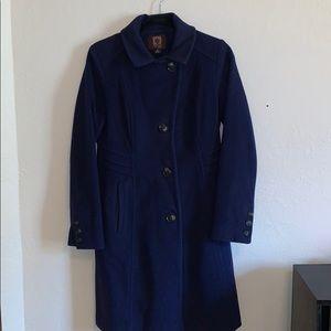 ANNE KLEIN blue wool pea coat, size 2